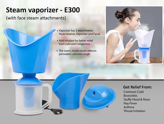Steam vaporizer with face steam attachments - E300