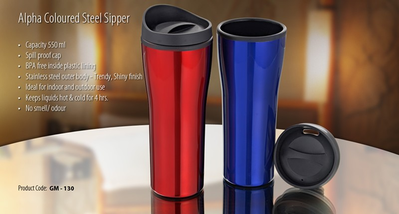GM- 130 Alpha Coloured Steel Sipper