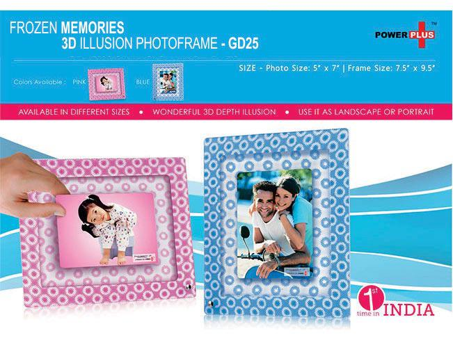 GD25 - Frozen memories - 3D photo frame (5 x 7)