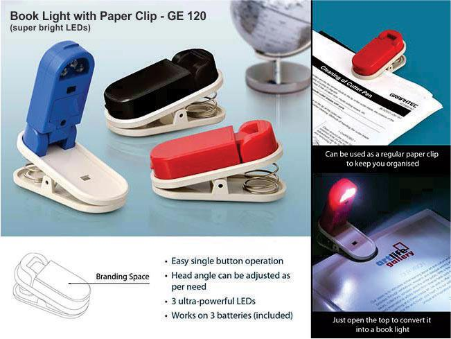 GE120 - Book light with Paper clip