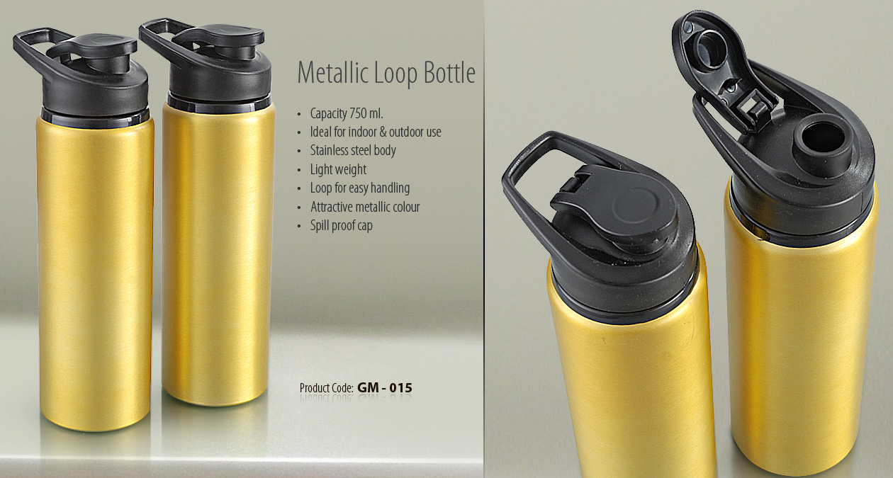METALLIC LOOP BOTTLE ----GOLDEN BOTTLE
