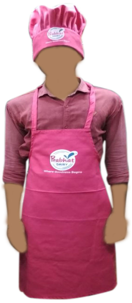 Prabhat apron and cap