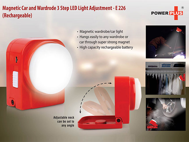 Magnetic Car and wardrode 3 step LED light (rechargeable) - E226