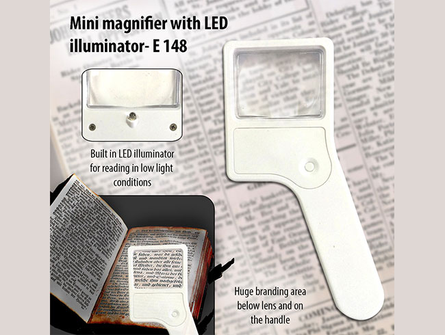 Mini magnifier with torch - E148