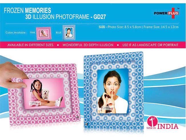 GD27 - Frozen memories - 3D photo frame (3 x 4)