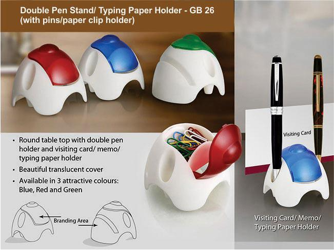 GB26 Round Table top with double pen holder, pin holder