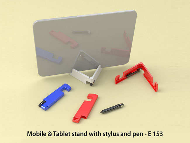 Mobile & Tablet stand with stylus and pen - E153