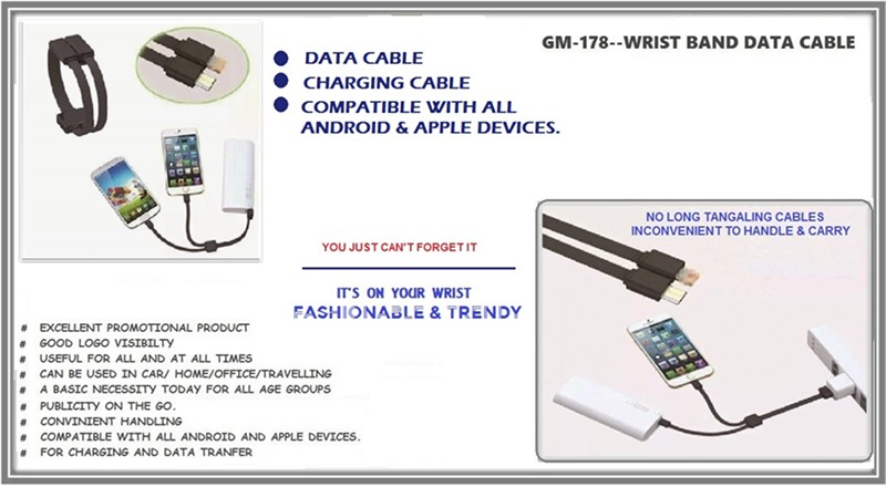 178 Wrist Band Data Cable