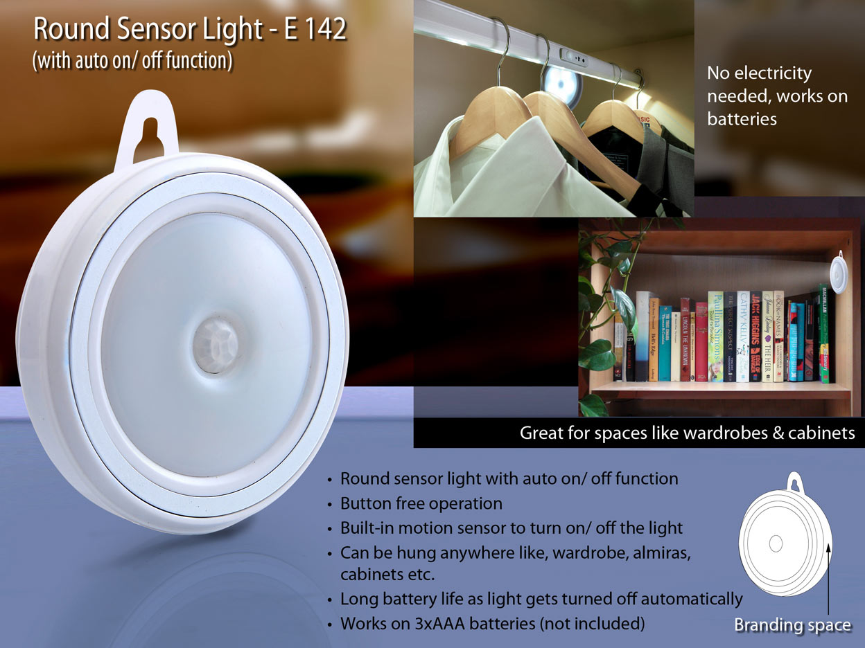 E142 - Round Sensor light (auto on/off)