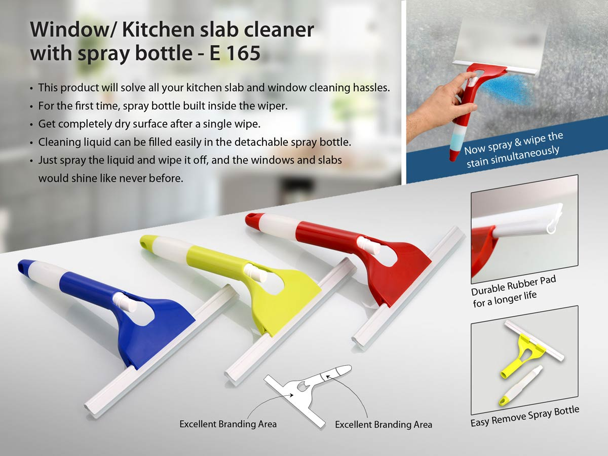 E165 - Window/ Kitchen slab cleaner with spray bottle