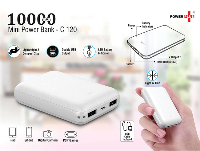 Mini power bank 10,00 mAh - C120