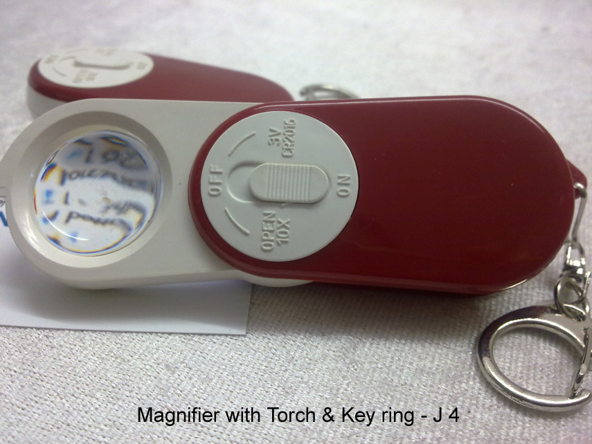 J04 - Key chain with Magnifier & Torch