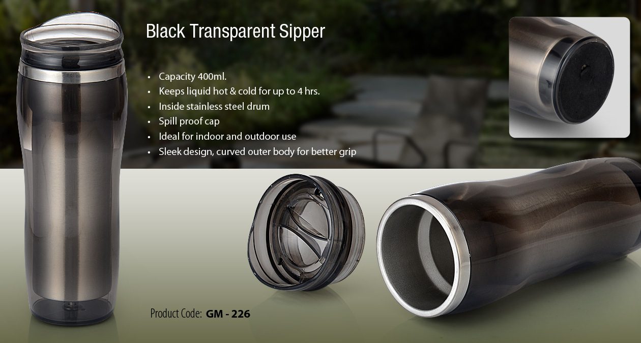 Black Transparent Sippper