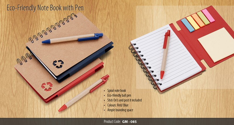 GM- 085 Eco – Friendly Note book with Pen