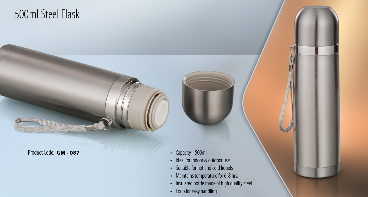 500 ML STEEL FLASK