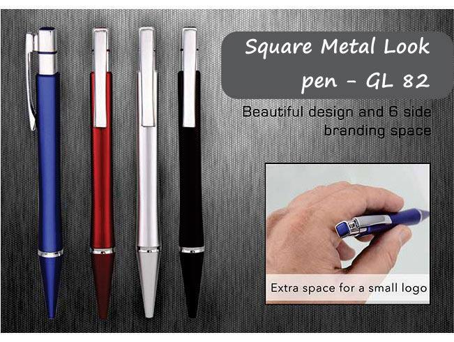 GL82 - Square metal look pen