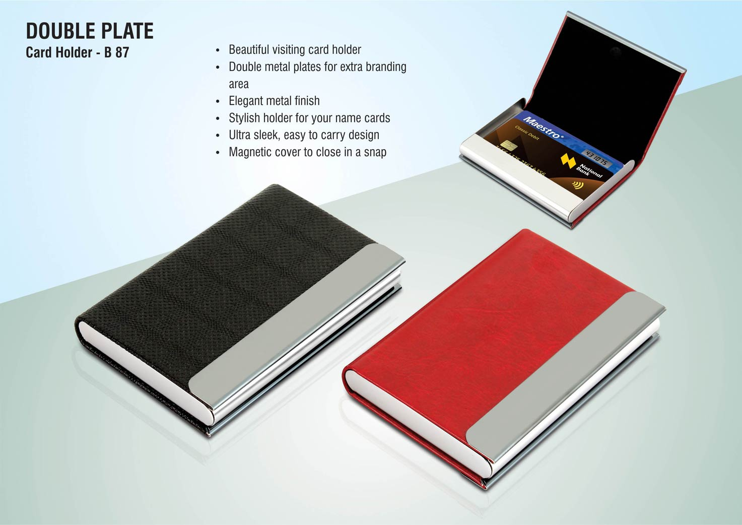 B87 - Double plate card holder