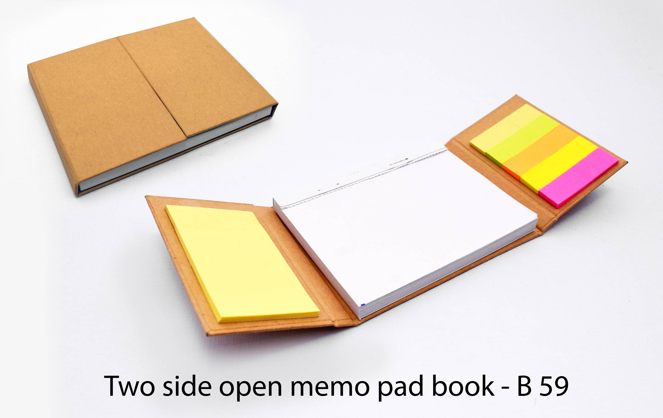 B59 - Two side open memo pad book
