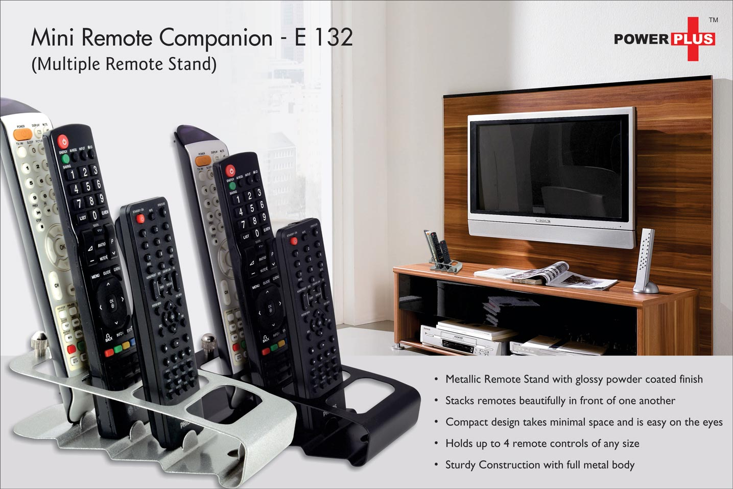 E132 - Power Plus Mini Remote Companion: Multi Remote Stand