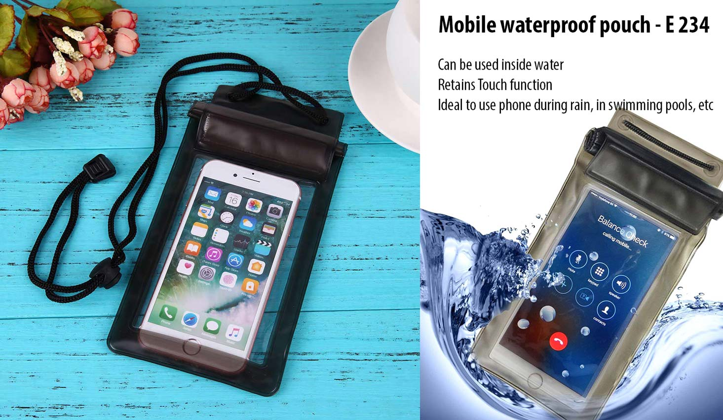 E234 - Mobile waterproof pouch | Can be used inside water