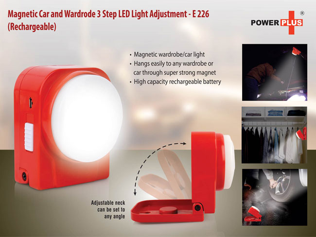 E226 - MAGNETIC CAR AND WARDRODE 3 STEP LED LIGHT (RECHARGEABLE)