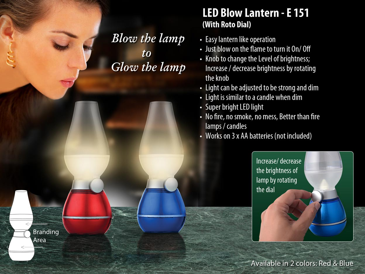 E151 - Blow lantern with roto dial (compact size)