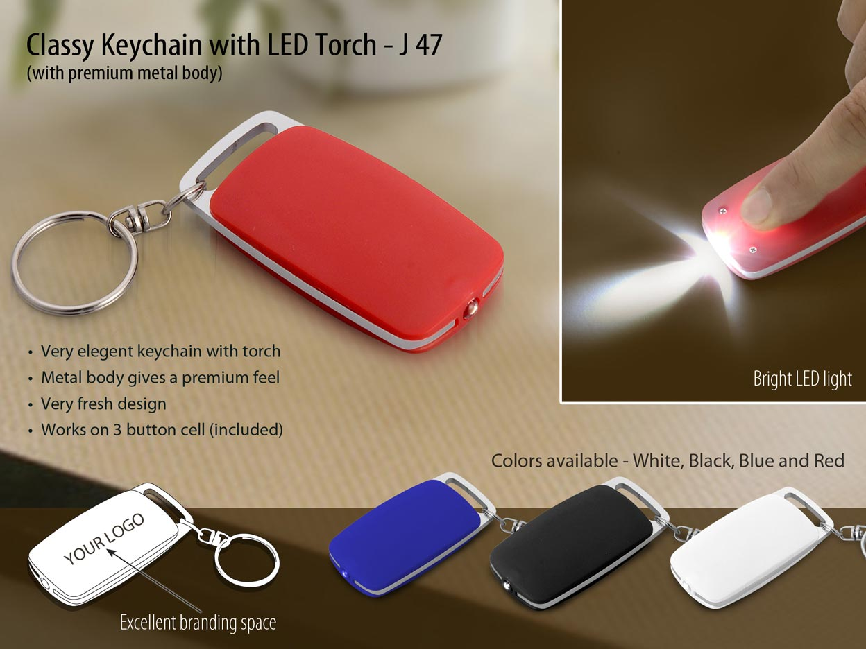 J47 - Classy Keychain with LED Torch