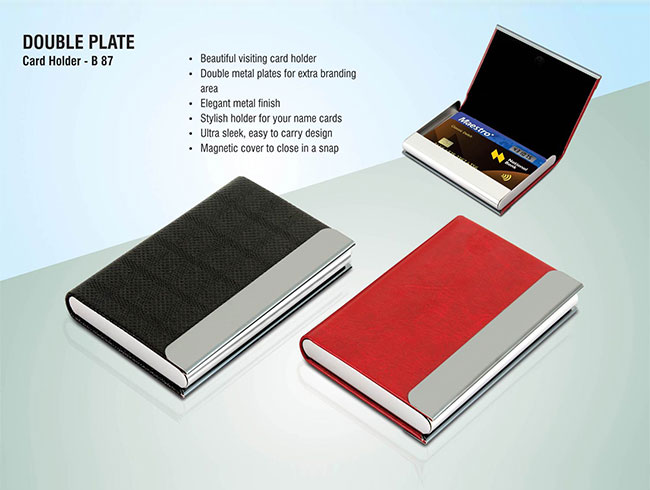 Double plate card holder - B87