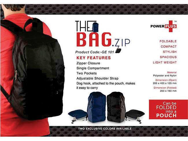 GE101 - The Bag.zip : Folding travel backpack