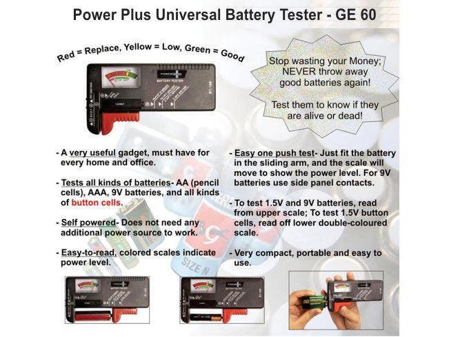 GE60 - Power Plus universal battery tester