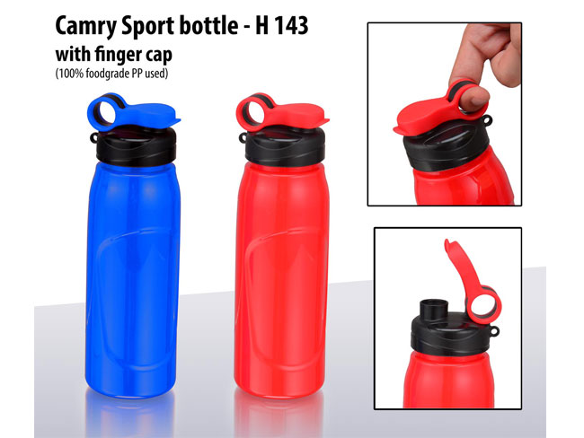 H143 - CAMRY SPORT BOTTLE WITH FINGER CAP