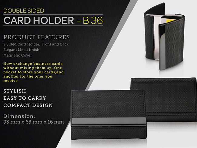 Double side card holder - B36