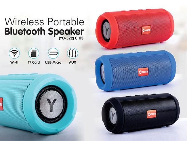 Mini Barrel extra bass bluetooth speaker | with USB / TF card / FM (YO  522) - C113