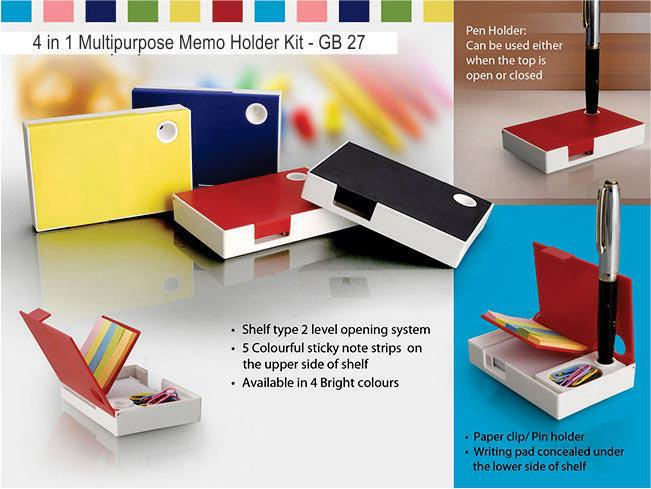 GB27 - 4 in 1 multipurpose memo holder kit