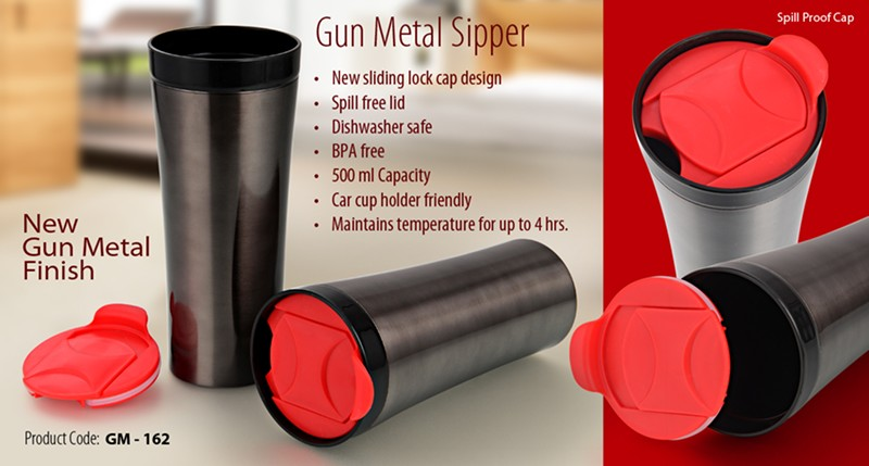 GM- 162 Gun Metal Sipper