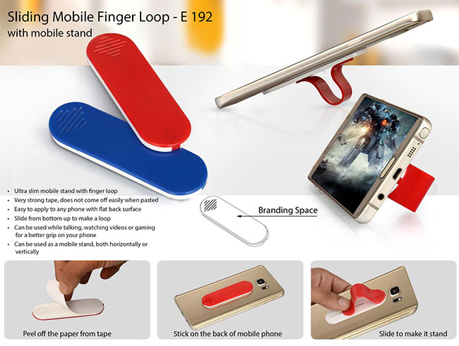 Sliding mobile finger loop (with mobile stand) - E192