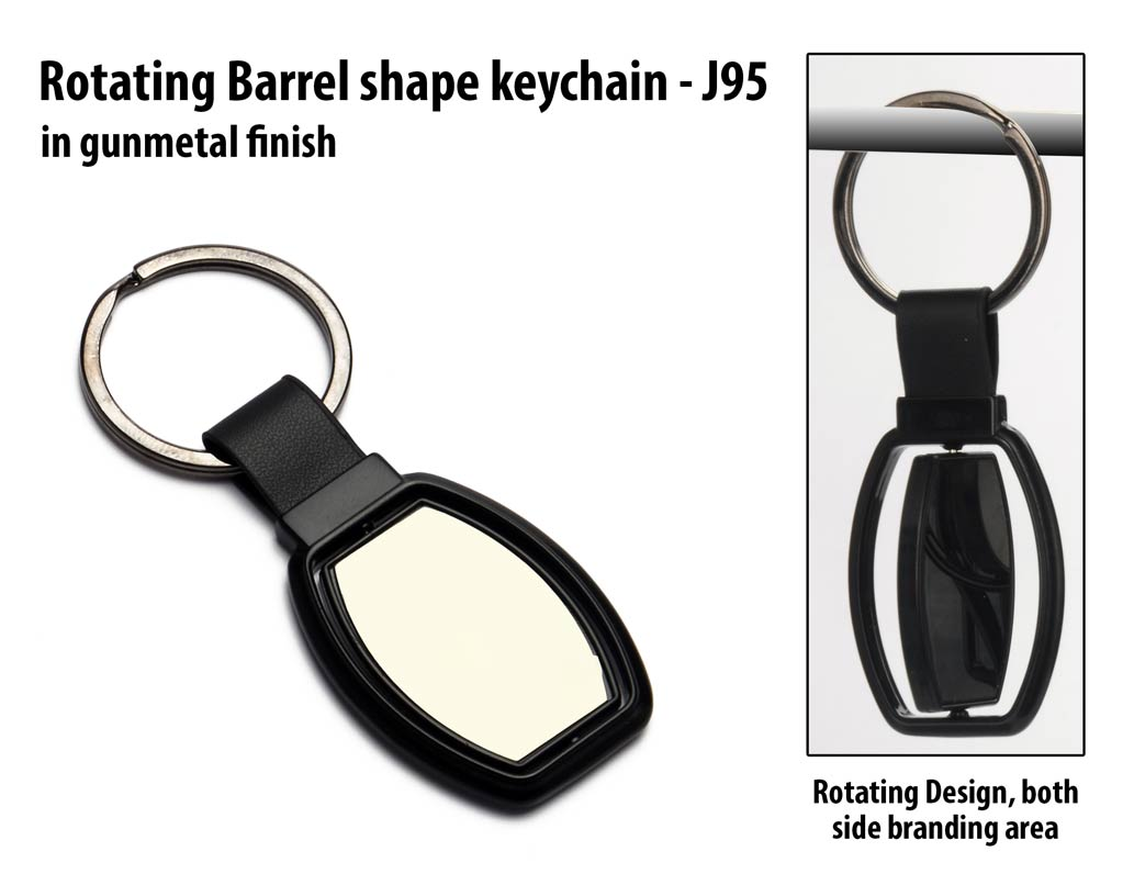 J95 - Rotating Barrel shape keychain