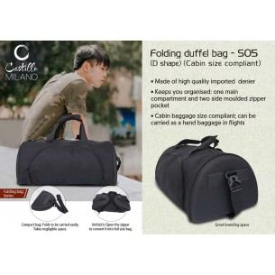 S05 - Folding duffel bag (D shape) (cabin size compliant) by Castillo Milano