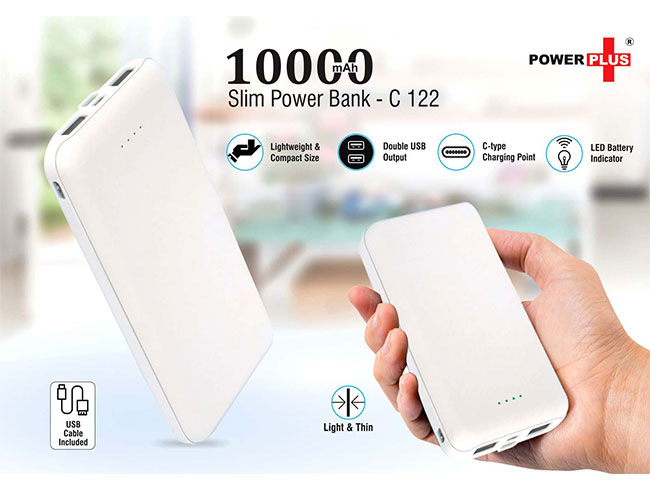 Slim Power bank 10,000 mAh - C122