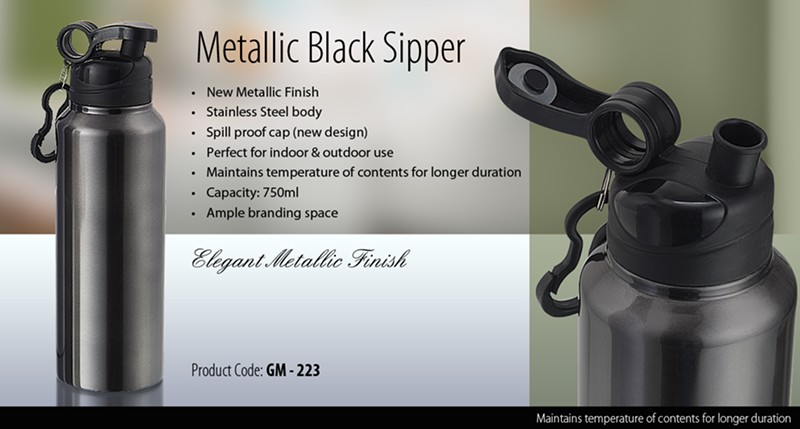 GM 223 Metallic Black Sipper