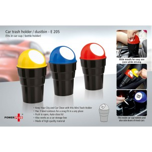 E205 - Car trash holder / dustbin (fits in car cup / bottle holder)