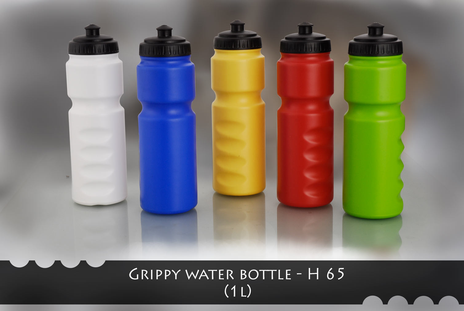 H65 - Grippy water bottle (1000 ml)
