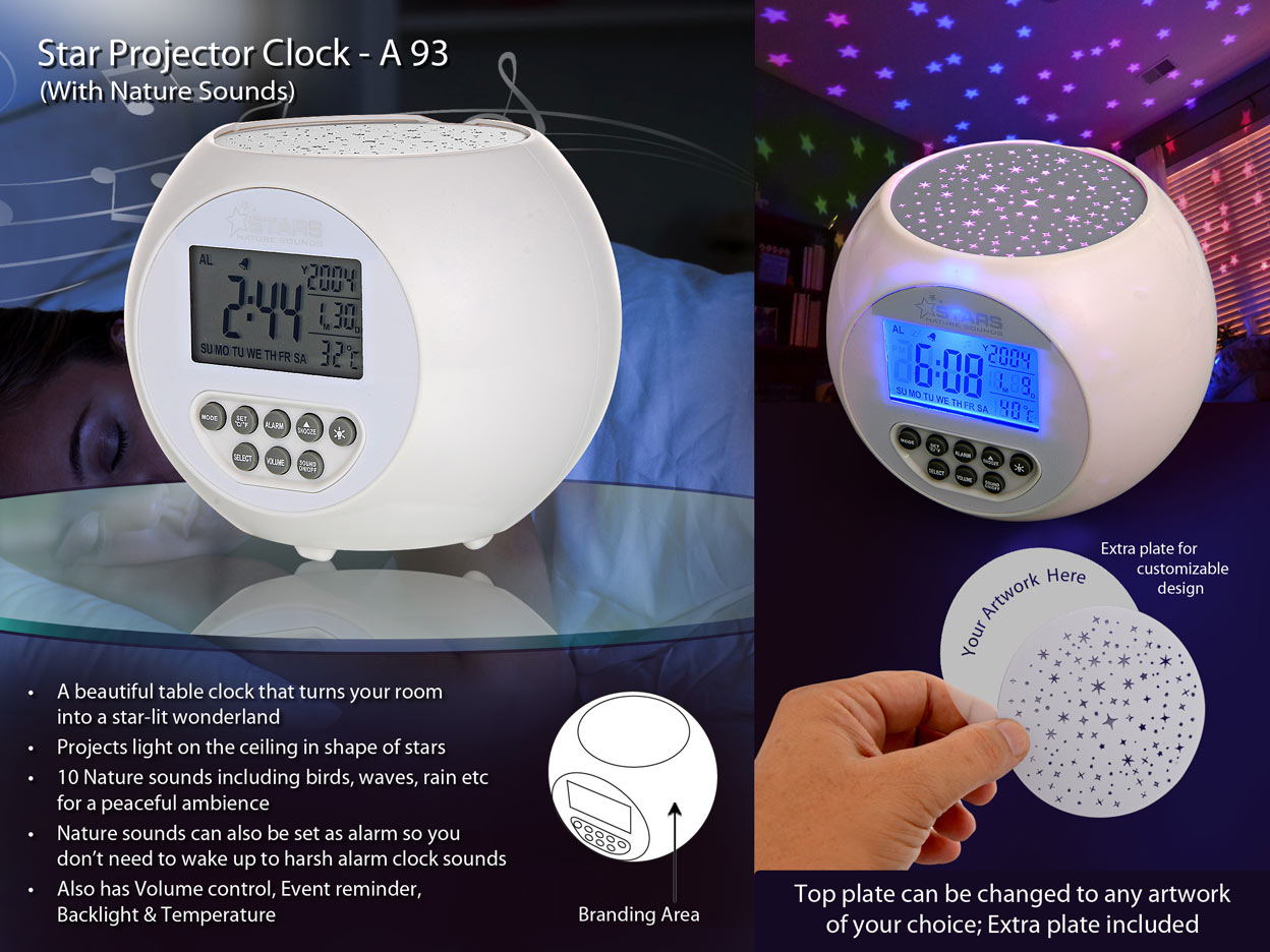 A93 - Star projector clock with Nature sounds