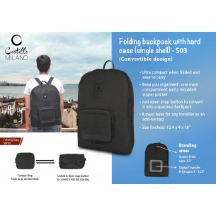 S03 - Folding backpack with hard case (single shell) by Castillo Milano