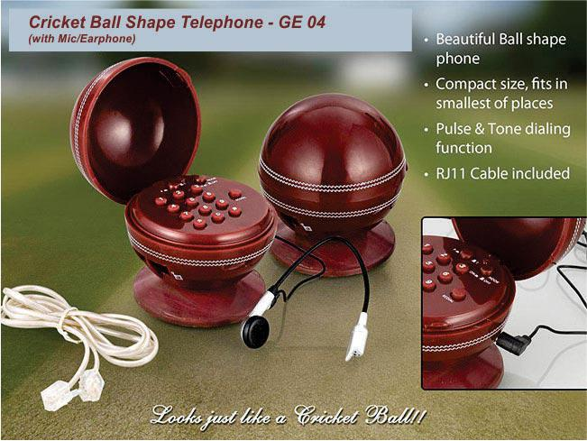 GE04 - Telephone (Cricket Ball Shape)