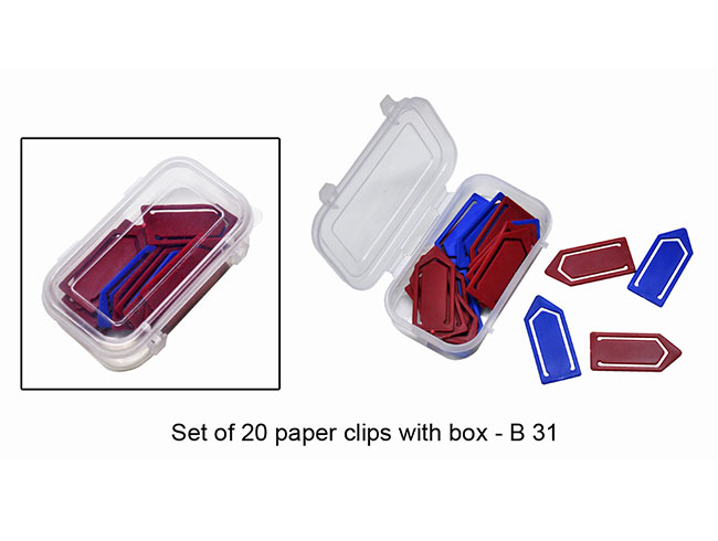 Set of 20 paper clips with box - B31