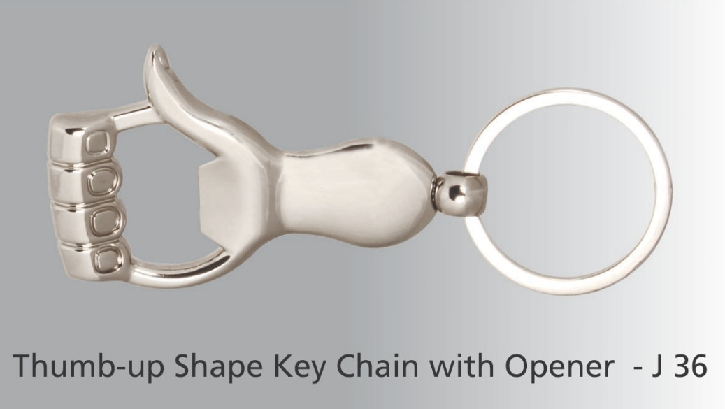 J36 - Thumb up key ring with opener