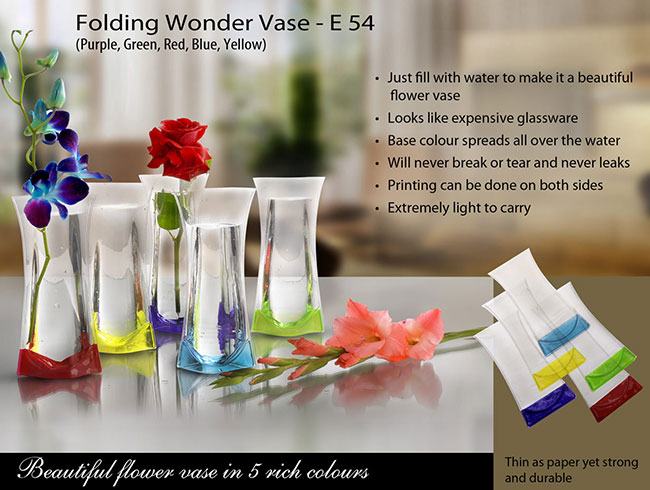 Folding Wonder Vase (Unbreakable, Leakproof, Easy to carry) - E54