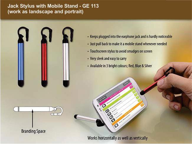GE113 - Jack stylus with mobile stand