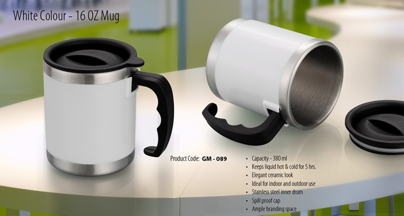 GM- 089 White Colour – 16 OZ Mug